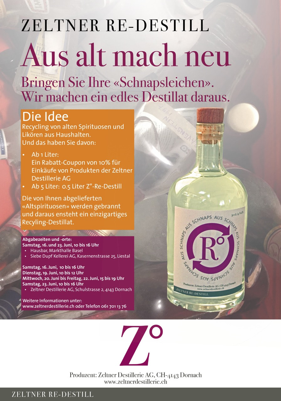 Re-Destill - Zeltner Destillerie AG